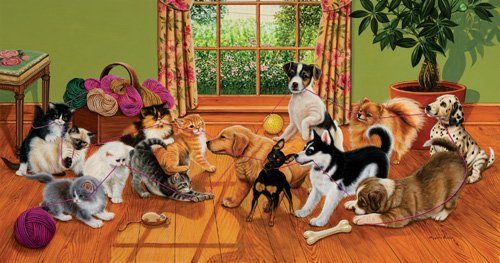Tug of War - 500 piece SunsOut puzzle - for Ages 12+