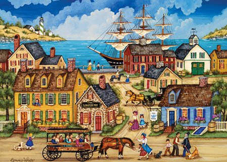 Seaport Village - 500 piece MasterPieces jigsaw puzzle - for Ages 12+