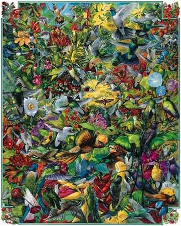 Hummingbirds - 1,000 piece White Mountain puzzle - for Ages 12+