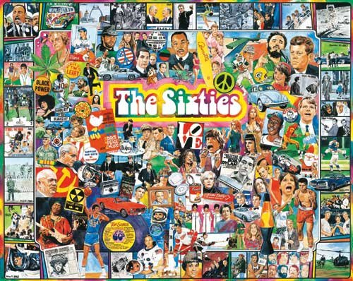 The Sixties - 1,000 piece White Mountain puzzle - for Ages 12+