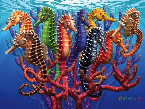 Seahorses - 550 piece White Mountain puzzle - for Ages 12+