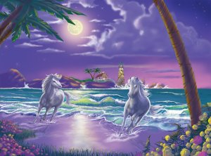 Seaside Stallions - 500 piece Melissa & Doug puzzle - for Ages 12+