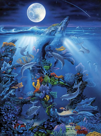 Dolphin Reef - 550 piece MasterPieces puzzle - for Ages 12+
