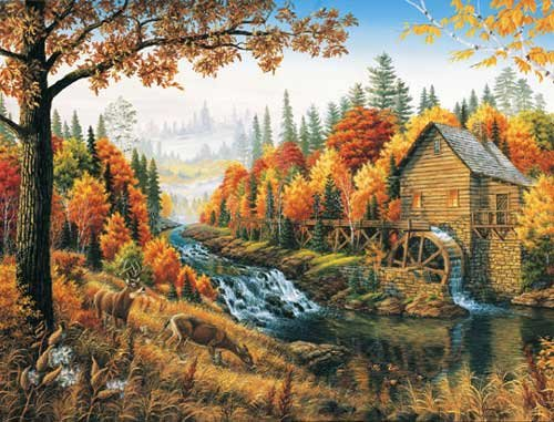 Johnson's Mill  - 1,000 piece White Mountain puzzle - for Ages 12+
