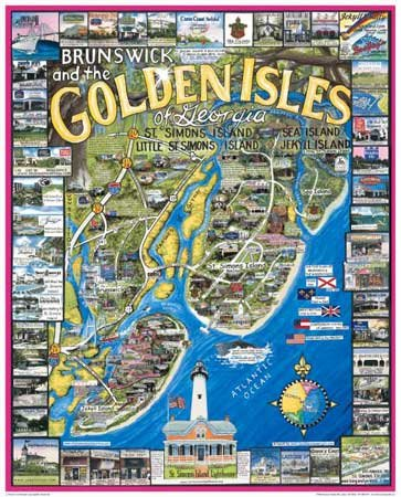 Golden Isles, Georgia  - 1,000 piece White Mountain puzzle - for Ages 12+
