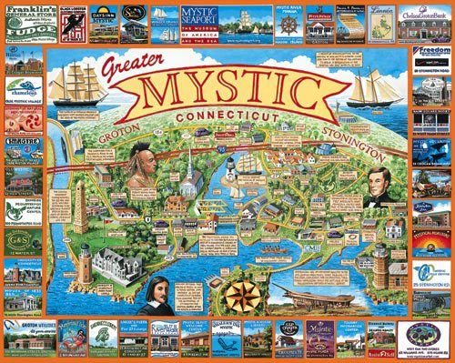 Mystic, Connecticut- 1,000 piece White Mountain puzzle - for Ages 12+