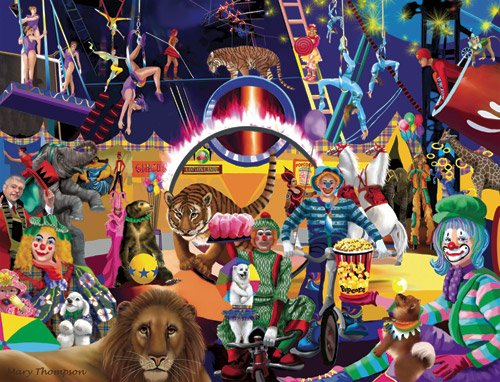 Circus Thrills - 1,000 piece White Mountain puzzle - for Ages 12+