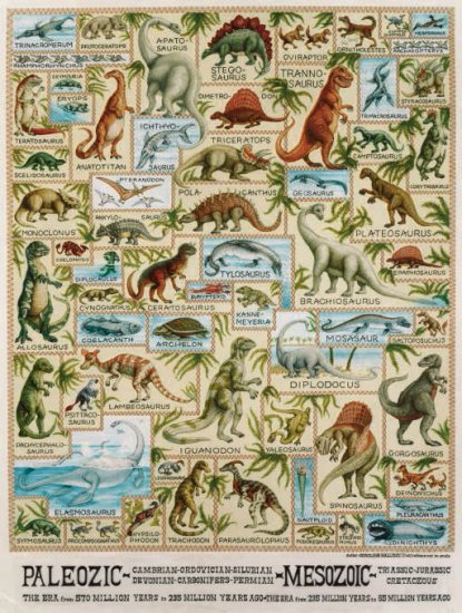 Dinosaur Chart - 300 piece SunsOut puzzle - for Ages 8+