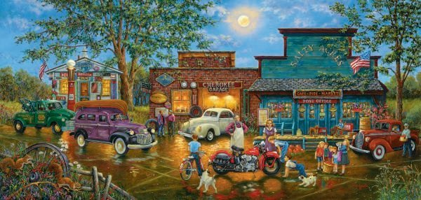 The New Bike In Town - 1,000 piece SunsOut puzzle - for Ages 12+