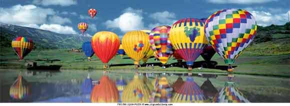 Balloons Over The Lake - 1,000 piece Educa puzzle - for Ages 12+