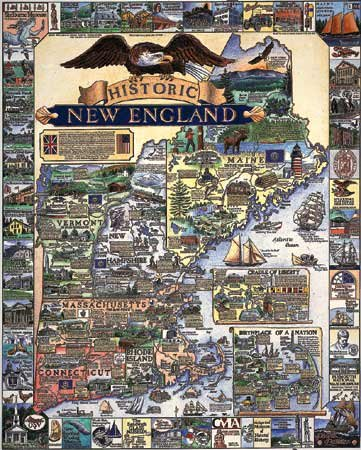 Historic New England  - 1,000 piece White Mountain puzzle - for Ages 12+