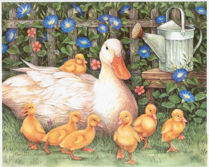 Happy Family - 300 Large Piece jigsaw puzzle - Duck & Ducklings