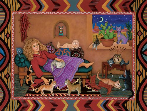 Cat Woman - 500 piece SunsOut puzzle - for Ages 12+
