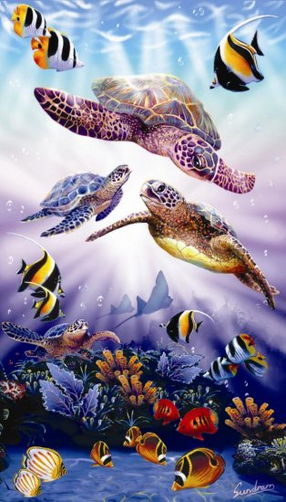 Turtle Play - 500 piece SunsOut puzzle - for Ages 12+