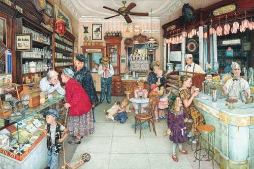 Soda Fountain - 1,000 piece SunsOut puzzle - for Ages 12+