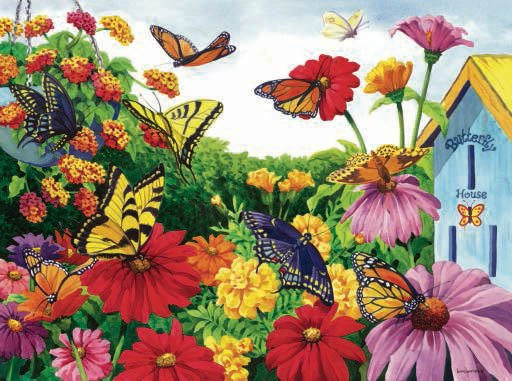 Butterfly Garden - 1,000 piece SunsOut puzzle - for Ages 12+