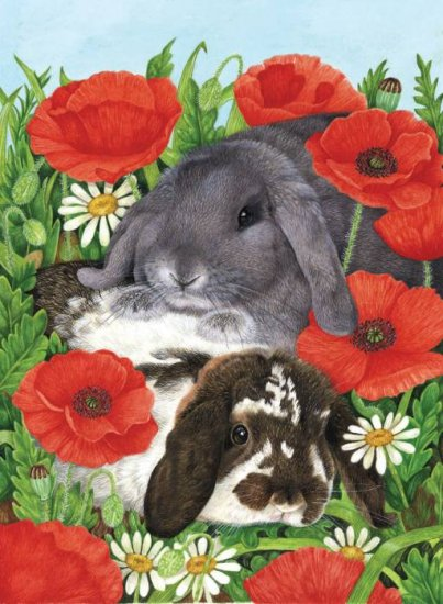 Red Poppies - 300 piece SunsOut puzzle - for Ages 8+