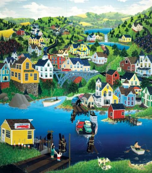 Ferry Crossing - 300 piece SunsOut puzzle - for Ages 8+