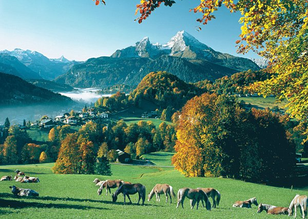 Berchtesgaden, Germany - 1,000 piece Ravensburger puzzle - for Ages 12+
