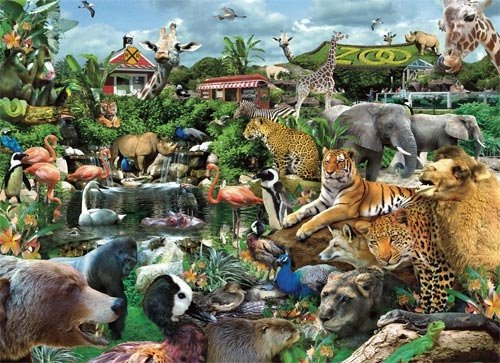 What A Zoo! - 300 Large Piece White Mountain puzzle - for Ages 12+