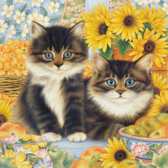Sunflower Kittens - 750 piece puzzle - for Ages 12+