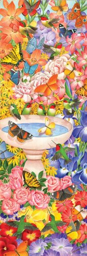 Hummingbird Haven  - 500 piece MasterPieces Vertcal Panoramic  jigsaw puzzle - for Ages 12+