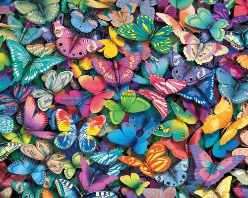 Butterflies - 1,000 piece White Mountain puzzle - for Ages 12+