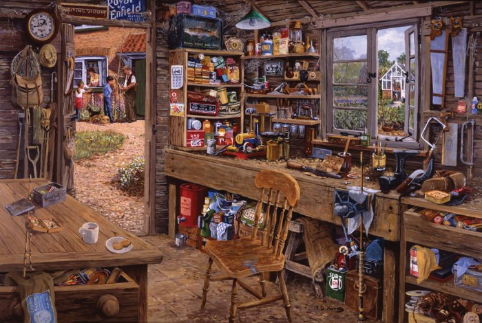 Dad's Shed - 500 Large Piece Ravensburger puzzle - for Ages 12+
