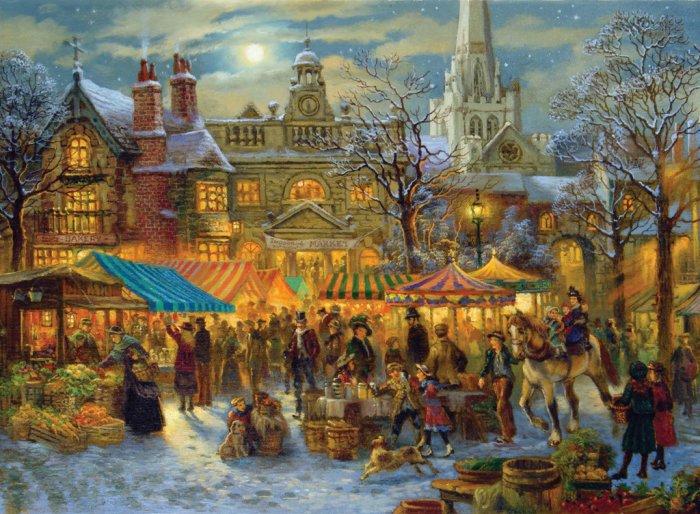Winter Market - 500 Large Piece Ravensburger puzzle - for Ages 12+