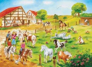 Pony Farm - 100 piece Ravensburger puzzle - for Ages 6+