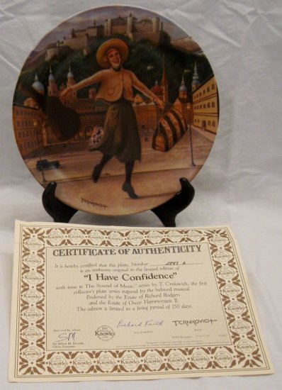 I HAVE CONFIDENCE Sound of Music Collectors Plate