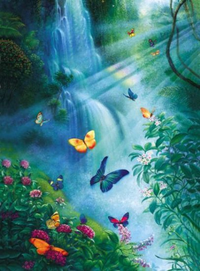 Butterflies in the Mist - 1,000 piece SunsOut puzzle - for Ages 12+