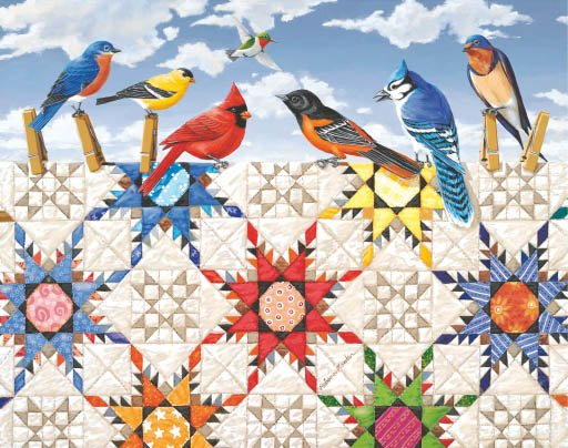 Feathered Stars - 100 piece SunsOut Mini puzzle