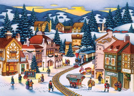 Frosty Delivery - 1000 piece MasterPieces jigsaw puzzle - for Ages 12+