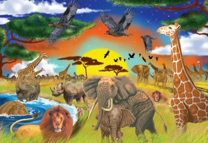 Safari Adventure - 200 piece Melissa & Doug jigsaw puzzle - for Ages 8+