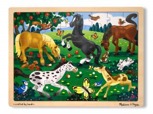 Frolicking Horses - 48 piece Melissa & Doug puzzle - Ages 4+