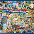 United States of America  - 1,000 piece White Mountain puzzle - for Ages 12+
