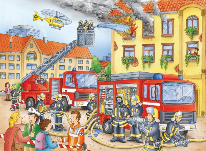 Fire Department - 100 piece Ravensburger puzzle - for Ages 6+