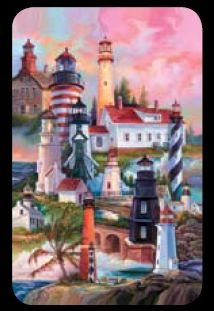 Lighthouses - Bridge Playing Cards - NEW