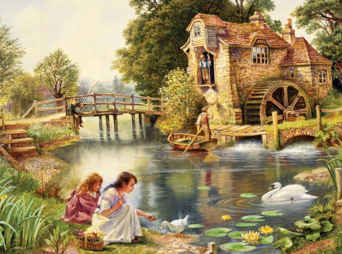 Idyllic Life - 500 Large Piece Ravensburger puzzle - for Ages 12+