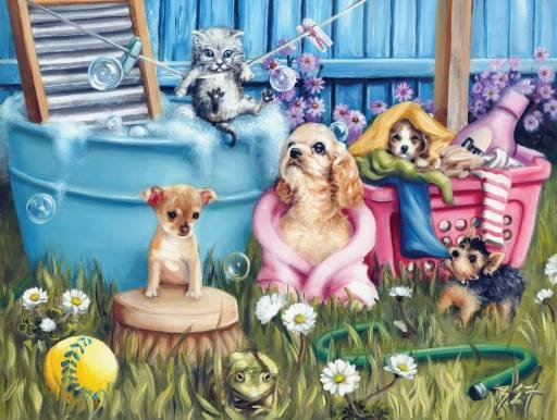 Suds N Pups - 300 piece SunsOut puzzle