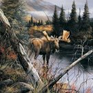 River Crossing - Moose - 500 piece SunsOut puzzle - for Ages 12+