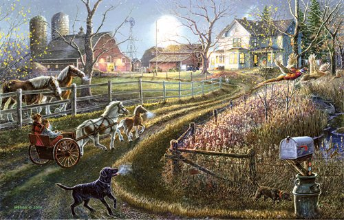 Pony Express - 1,000 piece SunsOut puzzle - for Ages 12+