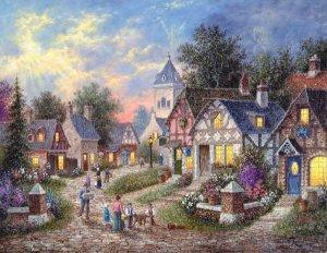 Twilight Village - 1,000 Large Piece SunsOut puzzle - for Ages 12+