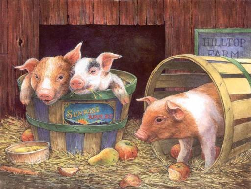 Three Pigs - 500 piece SunsOut puzzle - for Ages 12+