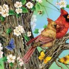 A Cardinal Pair - 1,000 Large Piece SunsOut puzzle - for Ages 12+