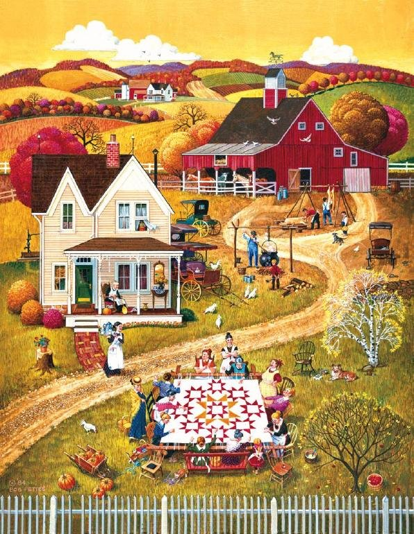 The Quilting Bee - 100 piece SunsOut Mini puzzle