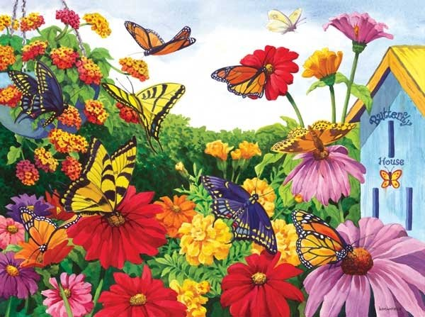 Butterfly Garden - 100 piece SunsOut Mini puzzle