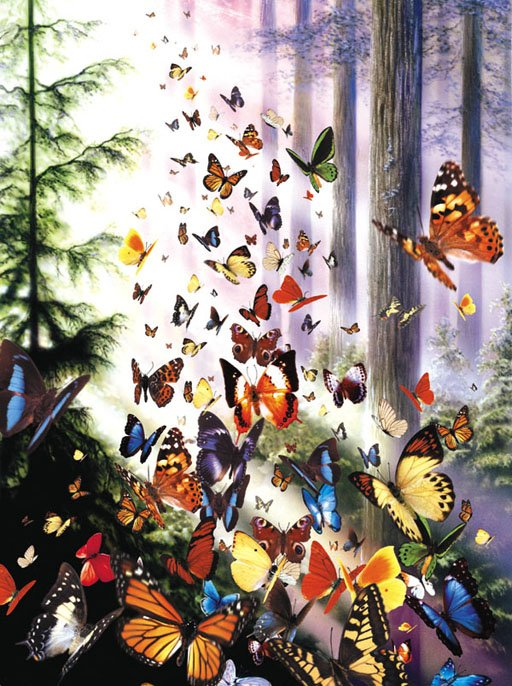 Butterfly Woods - 100 piece SunsOut Mini jigsaw puzzle