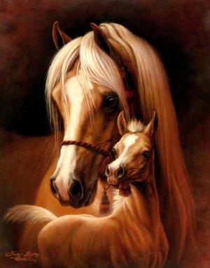 Mommy & Me - Horses - 100 piece SunsOut Mini puzzle